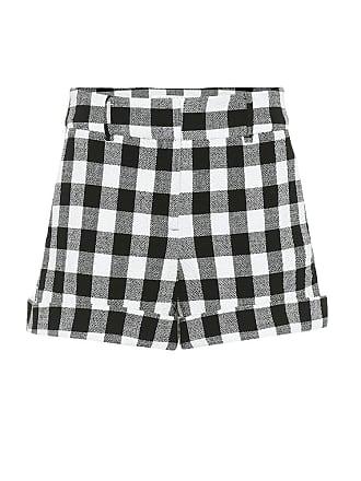 Veronica Beard Carito checked cotton shorts