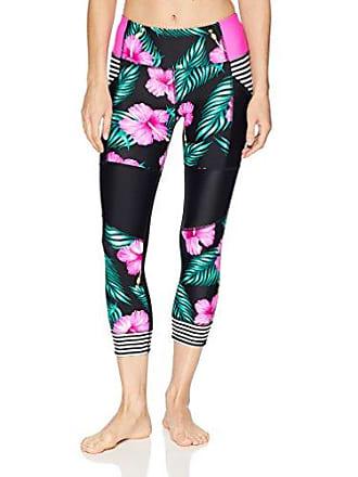 Body Glove Womens Seven Seas Hybrid Surf Capri Swimsuit, Molokai Black, Medium