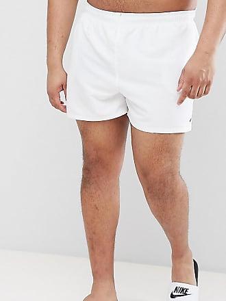 f41da3635fd Nike Nike Plus Exclusive Volley Super Short Swim Short In White NESS8830-100