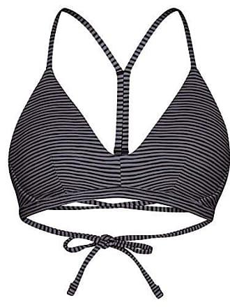e674dac092123 Hurley Womens Apparel Womens Quick Dry Compression Printed Adjustable Bikini  Top, Black Stripe, L