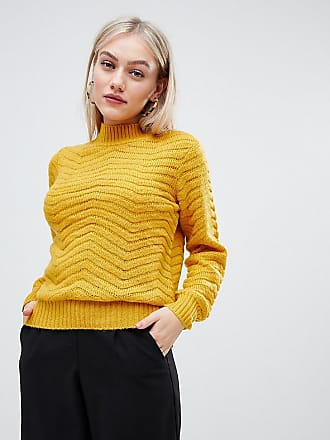 Y.A.S Textured High Neck Sweater - Yellow