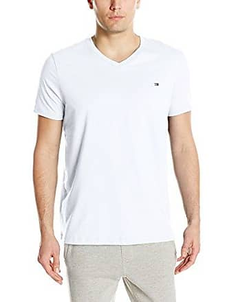 2313b2fd Tommy Hilfiger Mens Core Flag V-Neck Tee, White, Medium