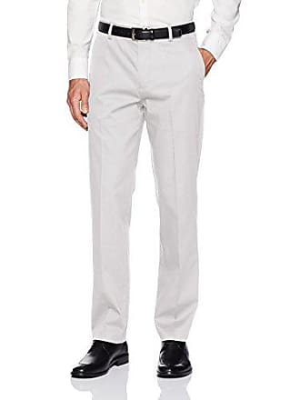 Van Heusen Mens Air Straight Fit Flat Front Chino,Light Gray,34W x 30L