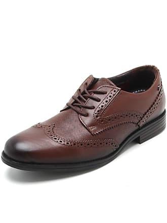 Pegada Sapato Couro Pegada Liso Marrom