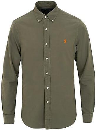 Polo Ralph Lauren Slim Fit Garment Dyed Oxford Shirt Service Green b17f1bda665c4