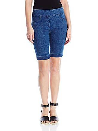 Ruby Rd. Womens Plus-Size Pull-on Extra Stretch Cuffed Denim Short, Indigo, 18W