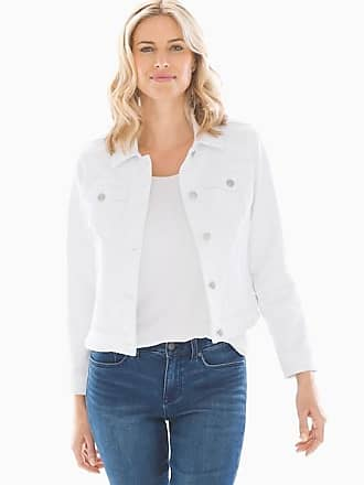 Soma Style Essentials Stretch Denim Jacket, White, Size XXL