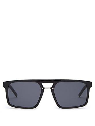 8d2db3e3afc8e Lunettes Dior Black Tie Acetate Aviator Sunglasses - Mens - Black