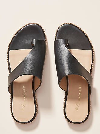 Anthropologie Ashley Leather Slide Sandals