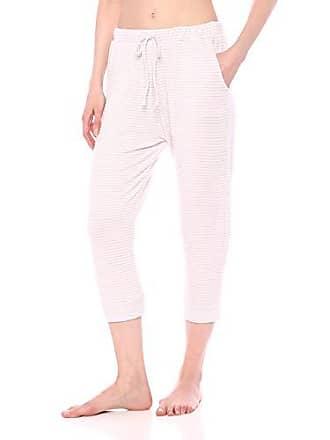 Eberjey Womens Sadie Stripes Marrakesh Pant, Ivory/Lavender Fog, Small