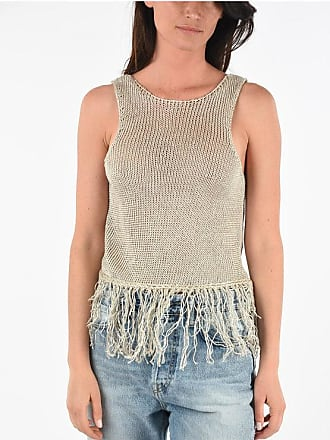 Forte_Forte Flax Top with Fringed size 1