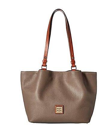 Dooney & Bourke Pebble Small Flynn (Elephant/Tan Trim) Handbags