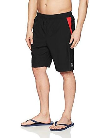 ZeroXposur Mens Fusion Gym to Swim Short, Black, Large