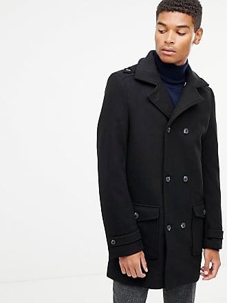 2cf0c32eff3 Kiomi Manteau en laine croisé - Noir - Noir