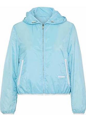 97ec7b5ec3ab Prada Prada Woman Shell Hooded Jacket Sky Blue Size 40