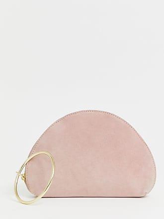 3adad126f4 Asos Pochette in camoscio a mezza lunga con anello per il polso - Rosa