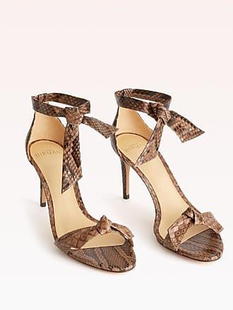 Alexandre Birman Clarita 75 Exotic Sandal - 35.5 Cameo Python Python Leather