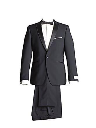 cfaf21dc7a Wilvorst Anzug Smoking Sakko Smoking Hose ohne Bundfalte Schwarz Leicht  Glänzend Drop8 Extra Schmal Tailliert Geschnitten
