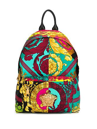 Versace baroque print backpack - Azul