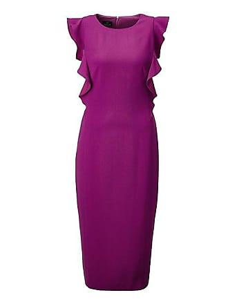 2c83522094ff1d Madeleine Ärmelloses Kleid mit fliessenden Volants Damen purpleviolett /  lila