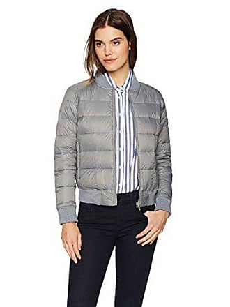 William Rast Womens Quilted Varsity Jacket, Steel Grey, M