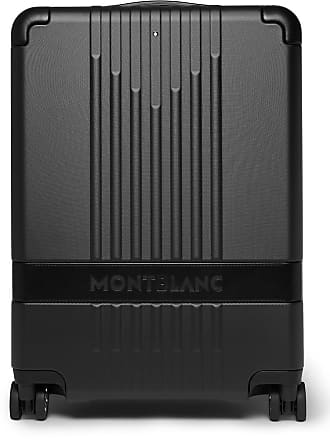 Montblanc My 4810 Leather-trimmed Polycarbonate Carry-on Suitcase - Black