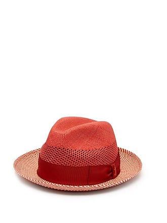83697bd9e30ed2 Borsalino Quito Panama Chevron Striped Straw Hat - Mens - Red Multi