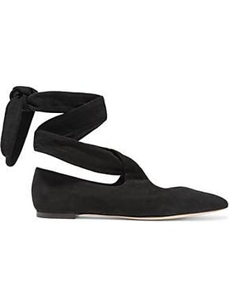63dca8452c0 The Row The Row Woman Suede Ballet Flats Black Size 35.5