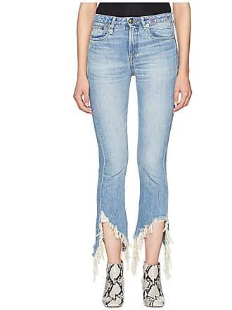 R13 Kick Fit (Mason Blue Torn) Womens Jeans
