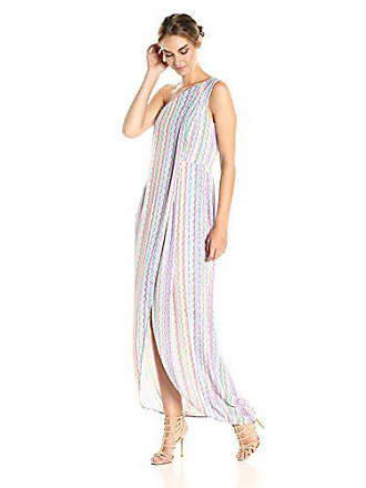 Bcbgmaxazria BCBGMax Azria Womens Dries One Shoulder Knit Dress, Almond Blossom Multi, 4