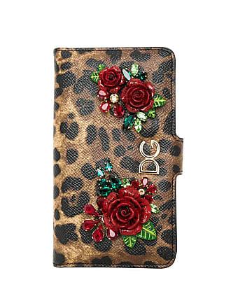 Dolce & Gabbana Capa para celular animal print - Preto