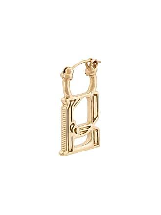 Ellery Alphabet charm earrings - Dourado