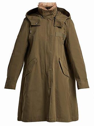 Yves Salomon - Army Ys Army - Hooded Cotton Gabardine Parka - Womens - Khaki Multi