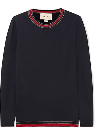 bfed0b5f32d Gucci Striped Wool Sweater - Navy