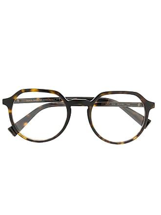 Dolce & Gabbana Eyewear Armação de óculos redonda - Marrom
