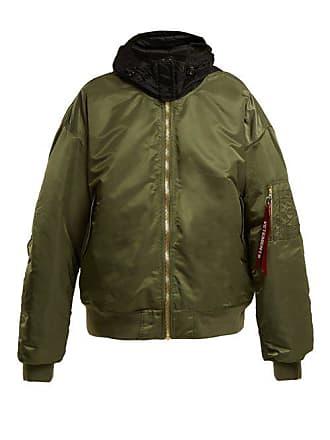 VETEMENTS Oversized Bomber Jacket - Womens - Green