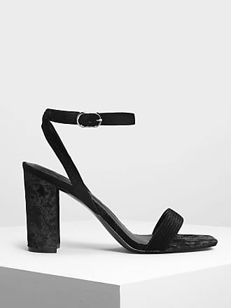 Charles & Keith Classic Ankle Strap Heeled Sandals