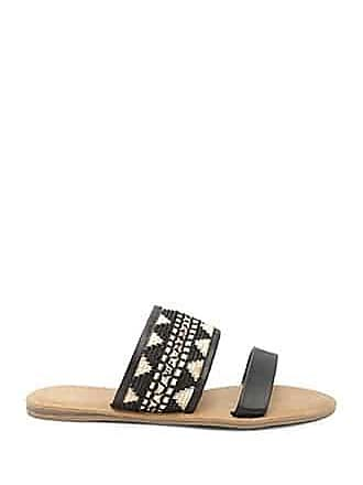 Forever 21 Forever 21 Geo Embroidered Flats Black