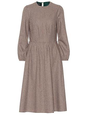 Rochas Checked wool-blend midi dress