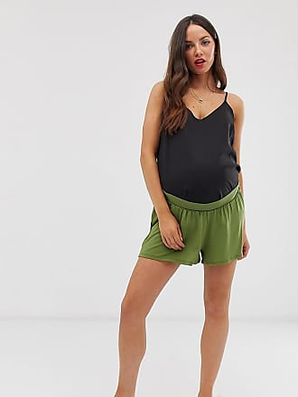 5d6a3b635c2c Asos Maternity ASOS DESIGN Maternity under the bump culotte shorts - Green
