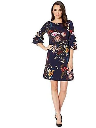 ea901dcc Gabby Skye Womens 3/4 Tiered Bell Sleeve A-Line Knee Length Dress,