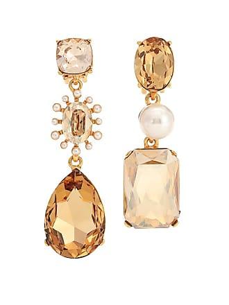 Oscar De La Renta Mixed jewel clip-on earrings