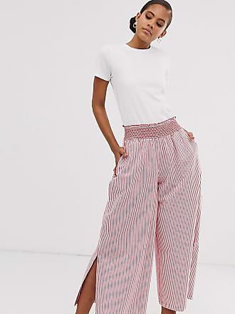 72b3da04ad0a Asos Tall ASOS DESIGN Tall - Pantaloni a righe rosse con fondo ampio e  inserto a