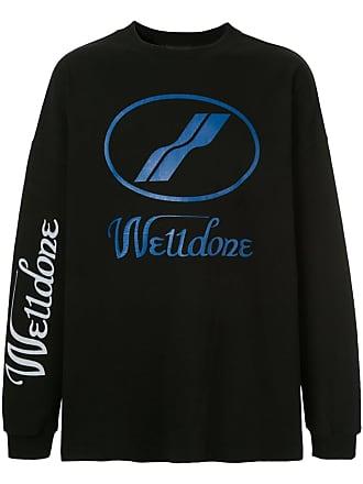 We11done Moletom com logo - Preto
