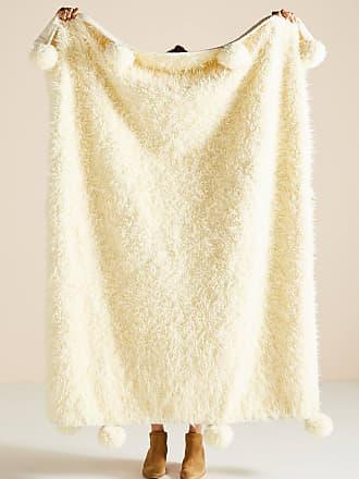 Anthropologie Bailey Faux Fur Throw Blanket