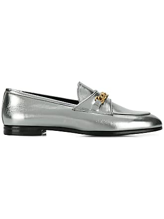 Tom Ford Laminated chain loafers - Silver
