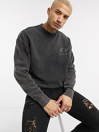 Reclaimed Vintage inspired washed sweatshirt with logo-Grey