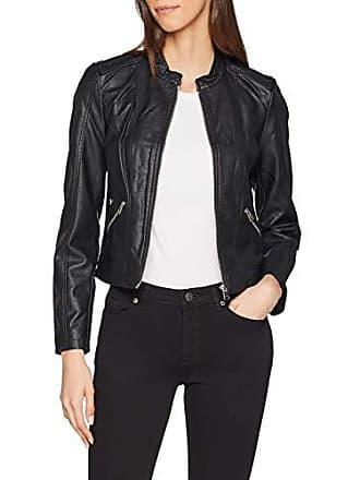 6d41f143 Vero Moda Vmkhloe Favo Faux Leather Jacket Noos Chaqueta, Negro (Black), 38