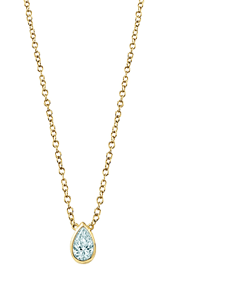 The Last Line March Birthstone Teardrop Necklace