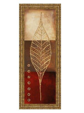 Classy Art Fossil Leaves II Framed Wall Art - 18W x 42H in. - 1415